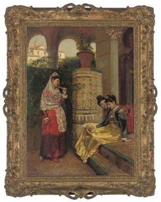 John Bagnold Burgess R A 1830 1897 Spanish Girls In
