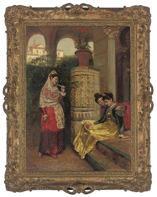 Spanish girls in a loggia
