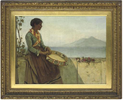 The tambourine girl, Capri