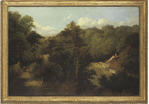 View of the old mill, and Prebend's Bridge, Durham