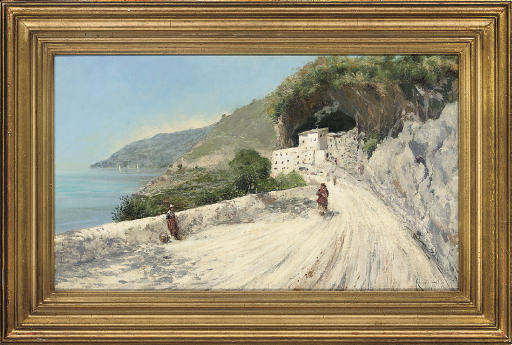The road home from market, Amalfi