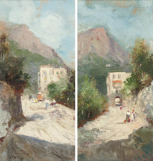 Peasants on a Capri pass; and Another similar