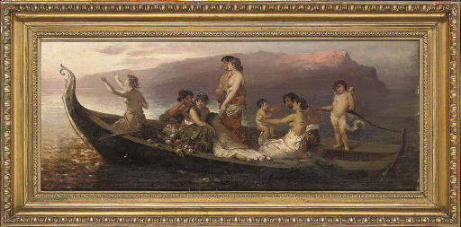 Eros ferrying lovers to Cythera