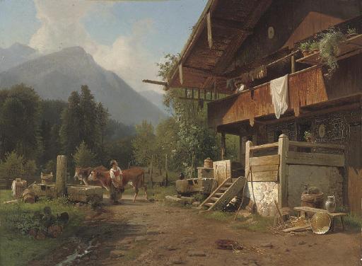 Gossips at an alpine chalet