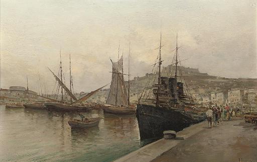 On the quay, Naples