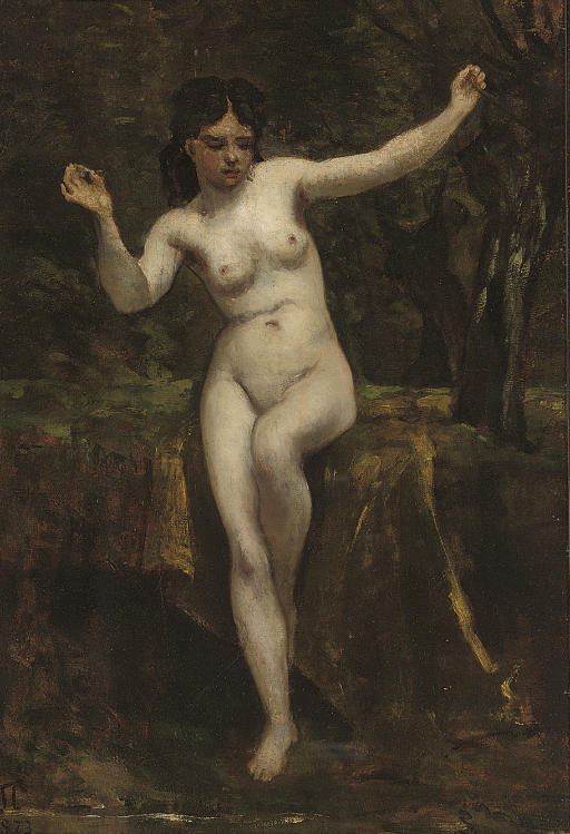 Venus at a forest pool