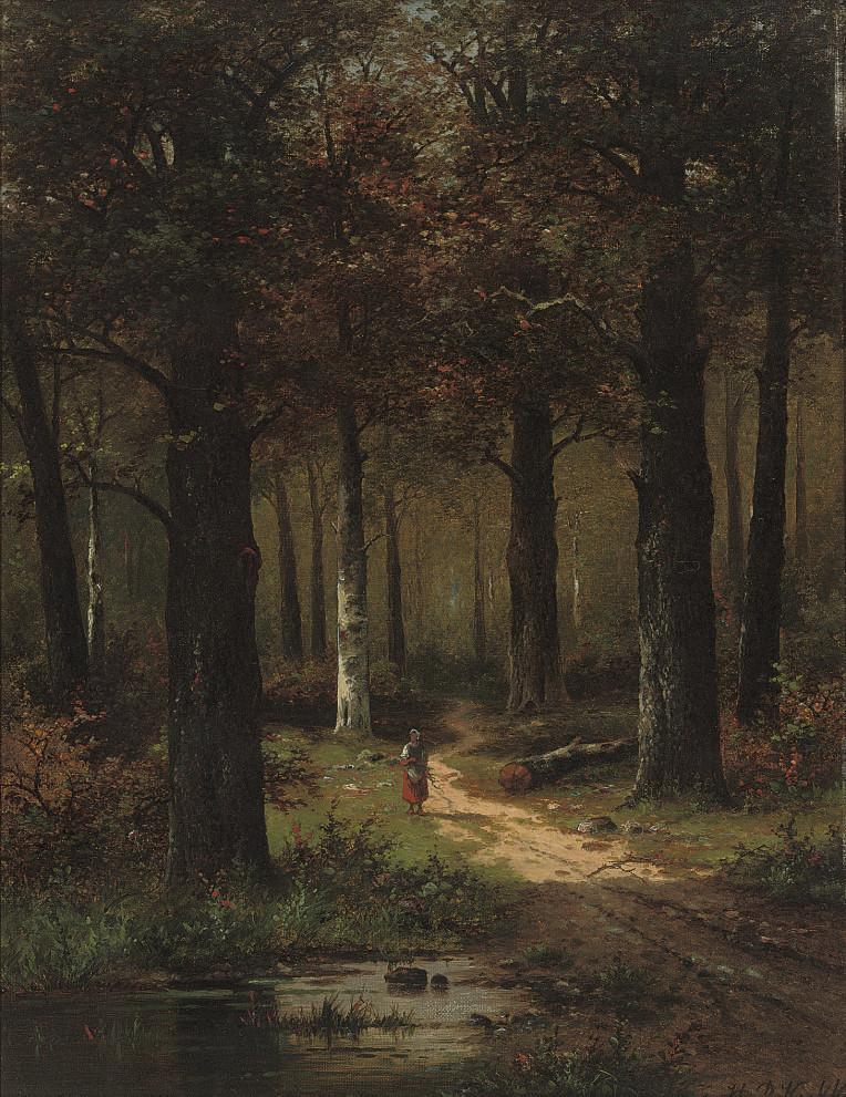 A faggot gatherer in the woods