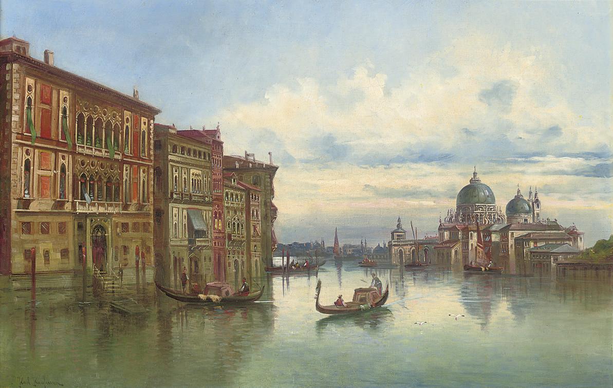 On the Grand Canal before Santa Maria della Salute, Venice