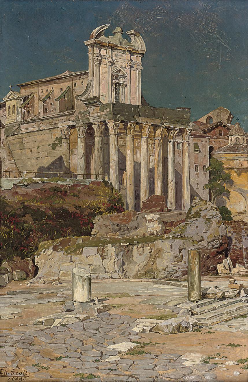 The Forum before St Giuseppe dei Falegnami, Rome