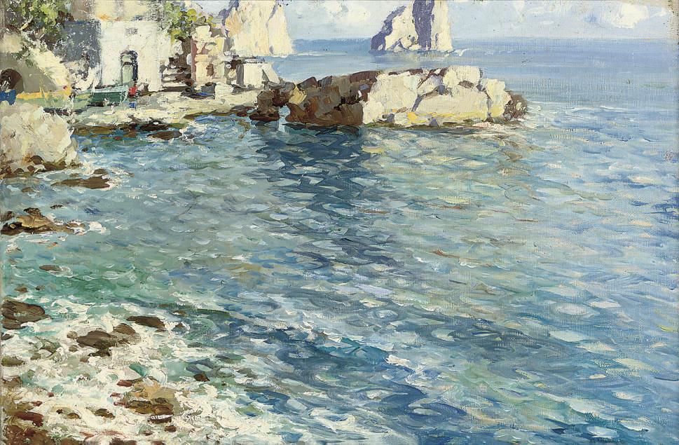 A cottage on the Capri coast near I faraglioni