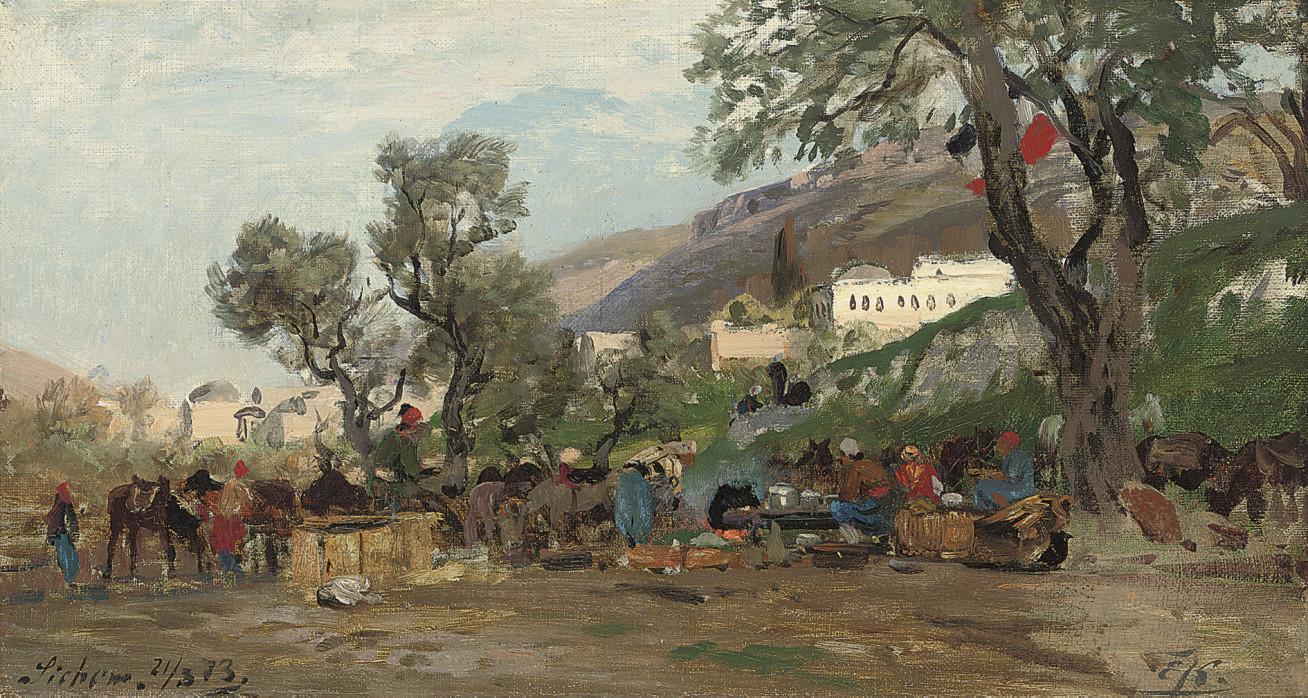 Horsemen resting, Sichem