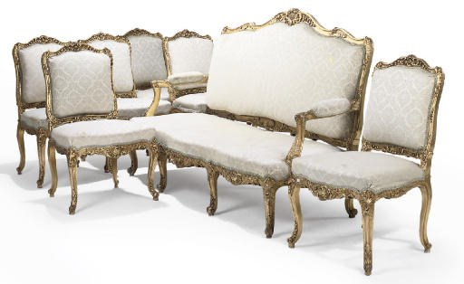 A FRENCH GILTWOOD SALON SUITE