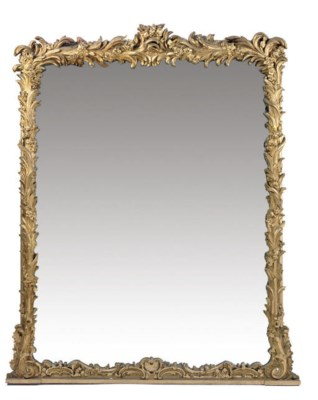A VICTORIAN GILTWOOD OVERMANTE