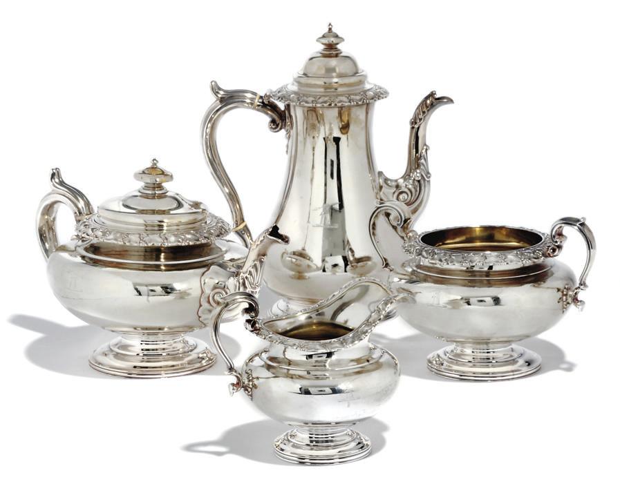 A WILLIAM IV FOUR-PIECE TEA AND COFFEE SET