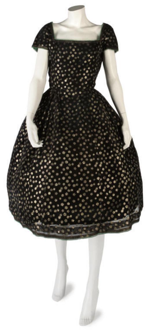 BALMAIN COUTURE, A LITTLE BLACK DRESS, 1950s