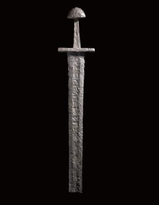 A VERY RARE VIKING SWORD, THE