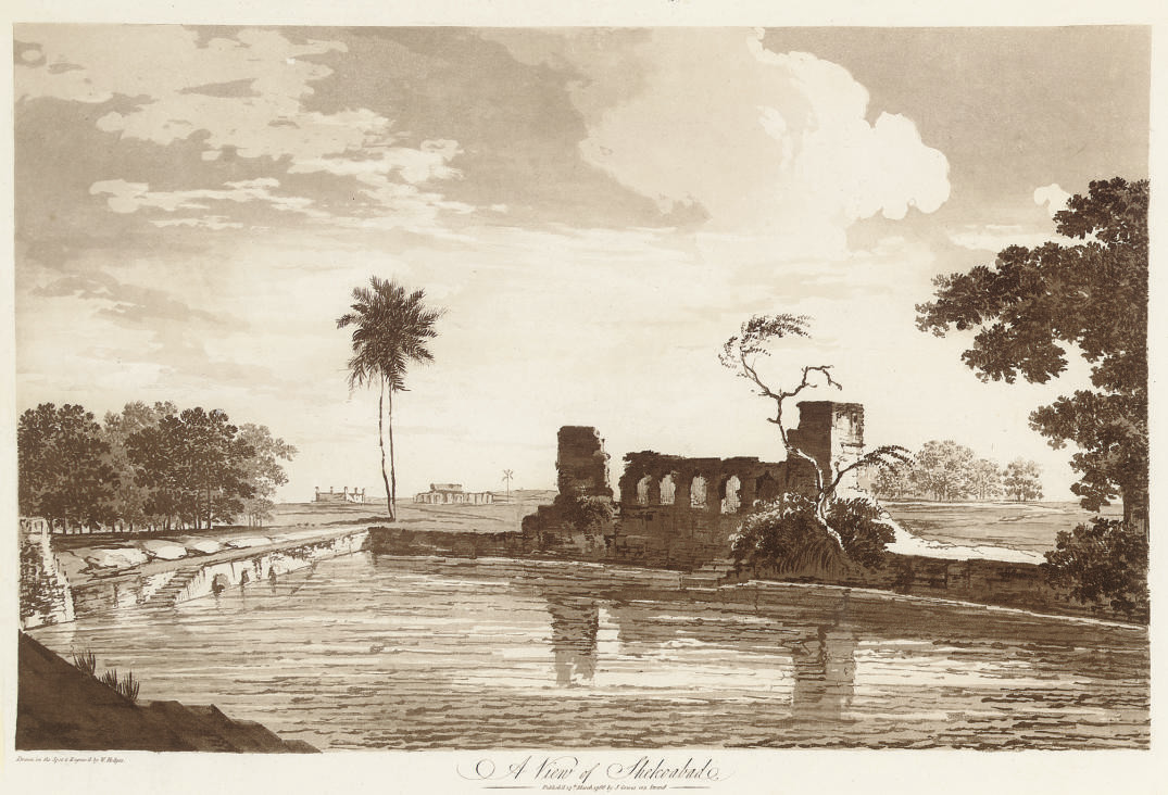 A View of Shekoabad; and A View of the Fort of Peteter, from Select Views in India (Abbey Travel 416, nos. 43,44)