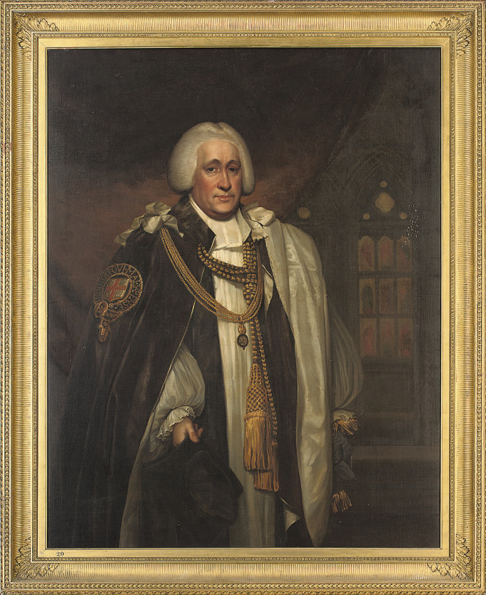 Portrait of the Hon. Brownlow North, Bishop of Winchester and Prelate of the Order of the Garter (1741-1820), three-quarter-length, in garter robes