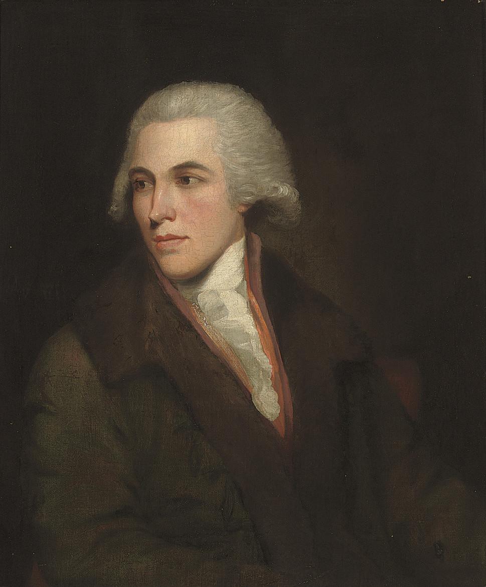 Portrait of a gentleman, half-length, in a brown coat