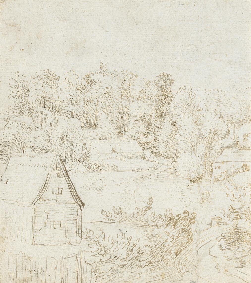 A landscape with buildings