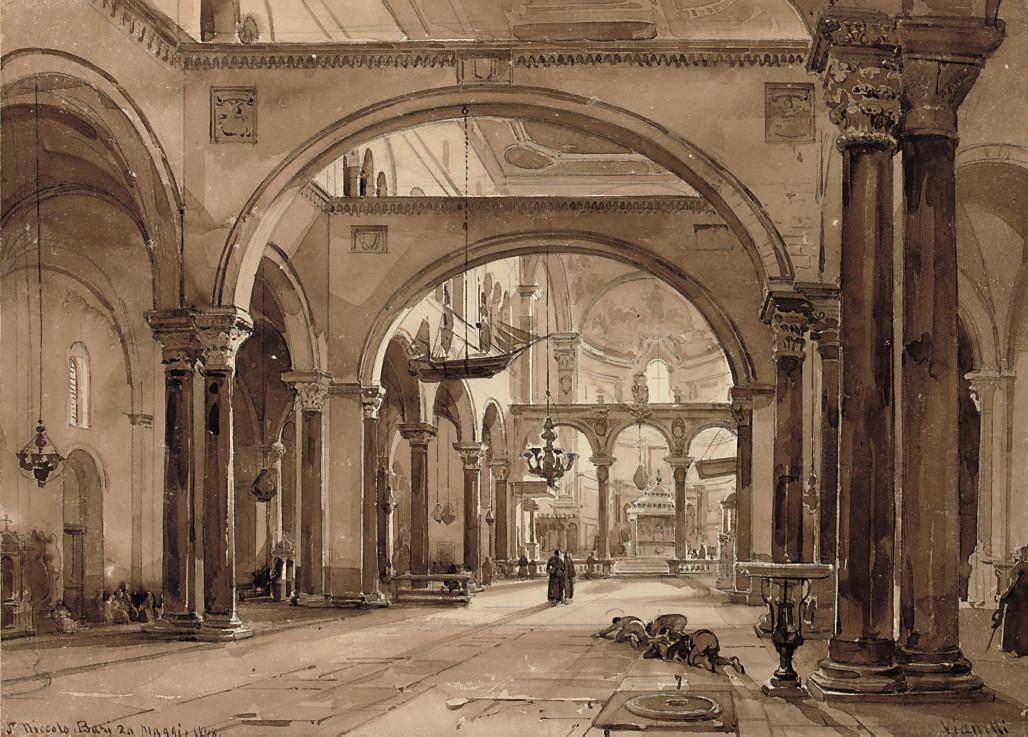 Interior of the Church of S. Niccolo, Bari