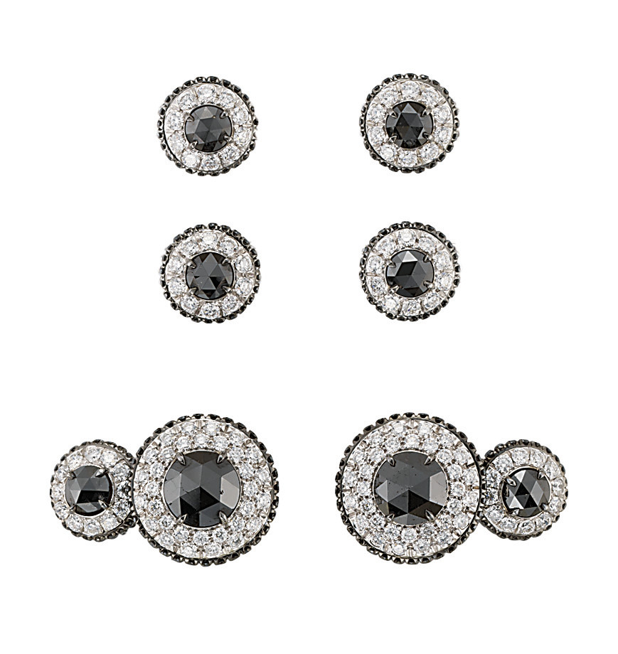 A COLOURED DIAMOND AND DIAMOND DRESS-SET, BY MARGHERITA BURGENER
