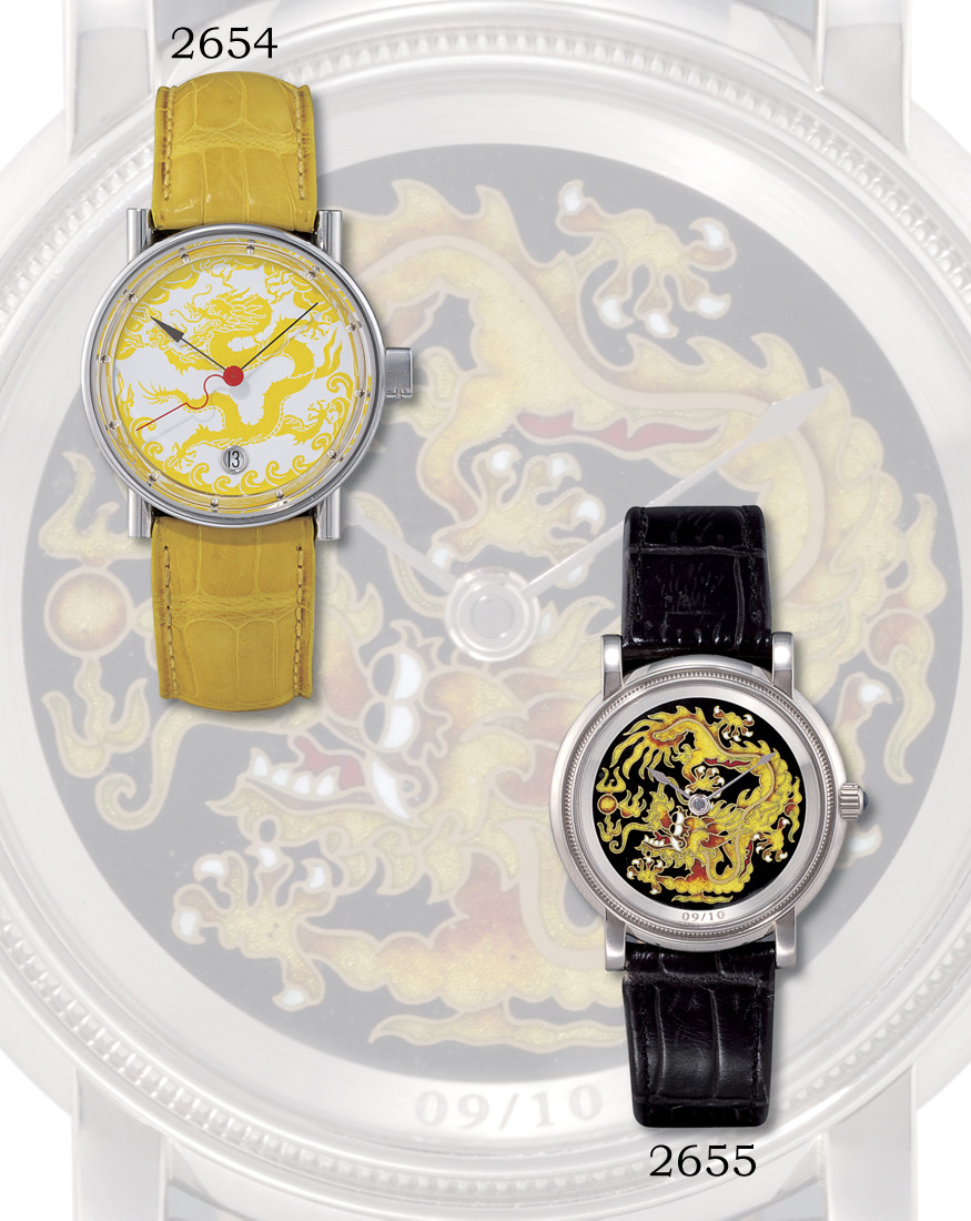 """ALAIN SILBERSTEIN, """"DRAGON SERIES""""  STAINLESS STEEL SELF-WINDING WRISTWATCH WITH SWEEP SECONDS, DATE DISPLAY AND ENAMEL DIAL, LIMITED EDITION OF 20 PIECES"""