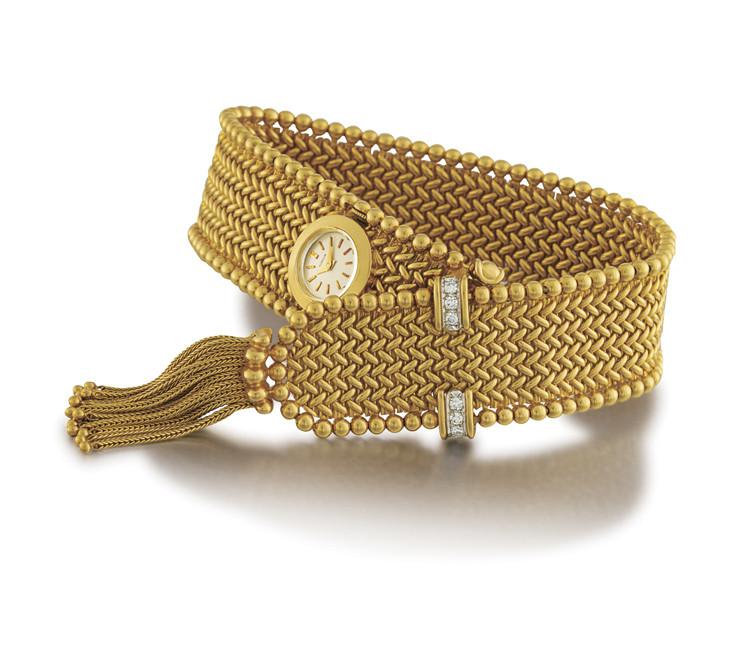 GÜBELIN  LADY'S 18K GOLD BRACELET MANUAL-WINDING WRISTWATCH