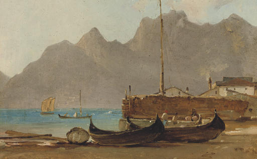 A view of Capri, a fishing village in the foreground