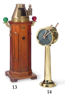 A double handled brass engine