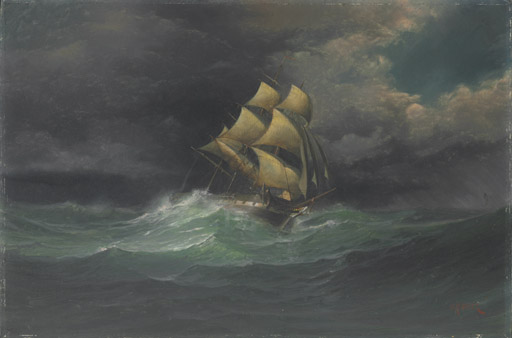 Caught in a gale