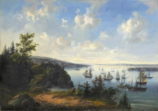 An Amercian port view said to be San Franciso harbor