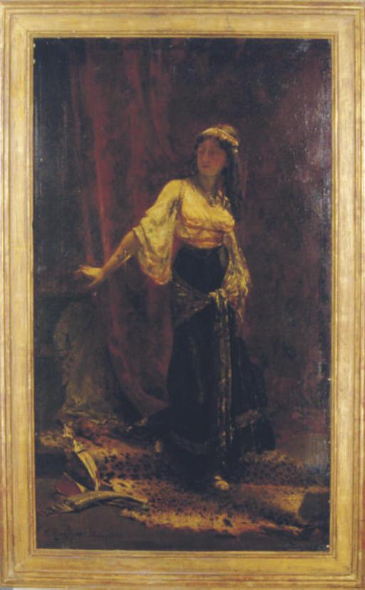Woman in an Orientalist interior
