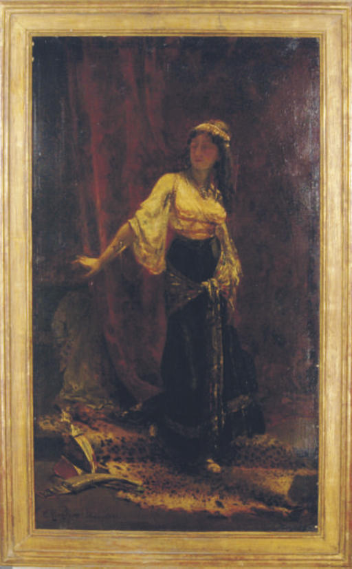 Woman in an Orientalist interior
