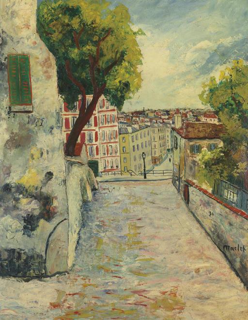 Montmartre, la rue du Mont-Cenis