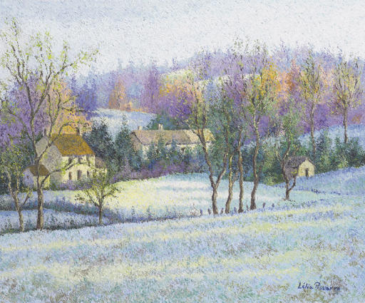 Le village de Nir sous le gel