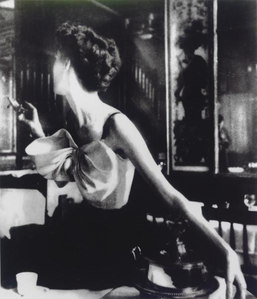 Across the Restaurant, Dress by Jacques Fath, Barbara Mullen, Le Grand Véfour, Paris, 1949