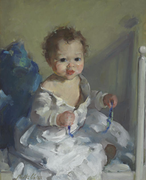 Portrait of a Baby in White