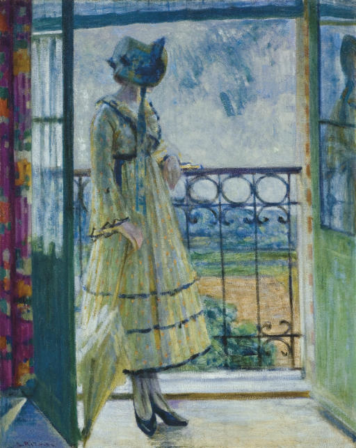 Girl on Balcony