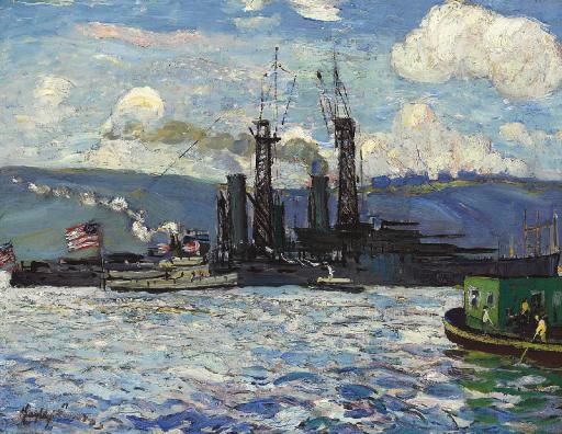 Battleships on the Hudson