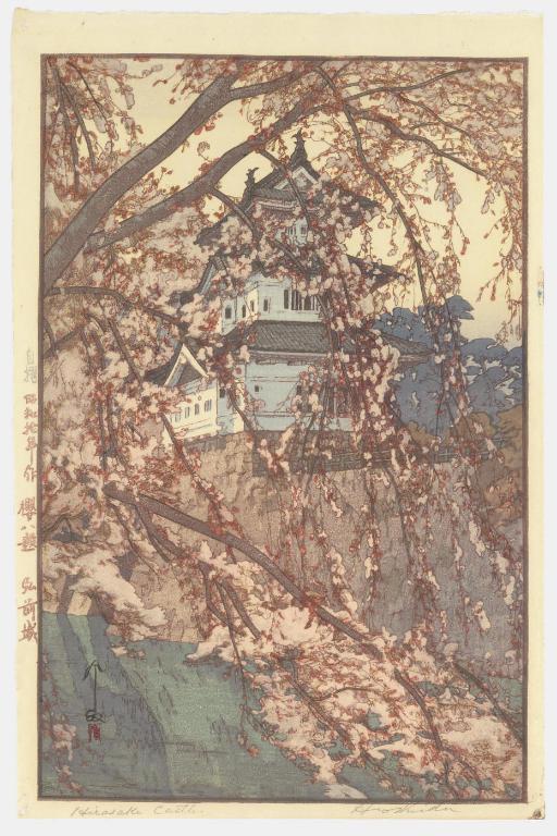 Hirosakijo/Hirosaki Castle, from the series Sakura hachidai (Eight views of cherry blossoms), 1935  Soshu (Suzhou), 1940  Sekishozan (Shizhongshan), 1940  Sekishozan (Shizhongshan), 1940