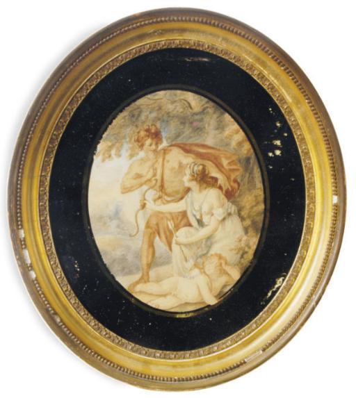 Venus and Adonis with Cupid