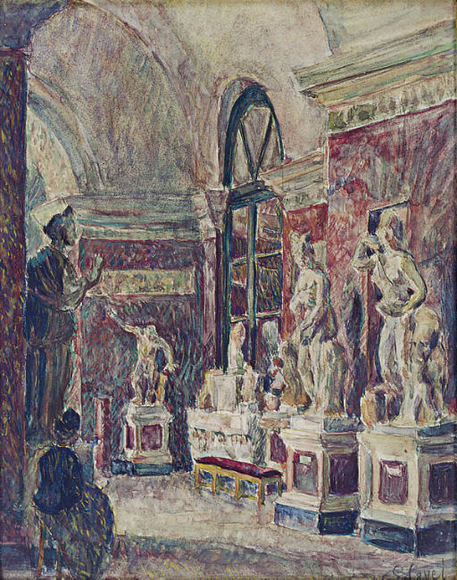 The sculpture gallery; and a companion work
