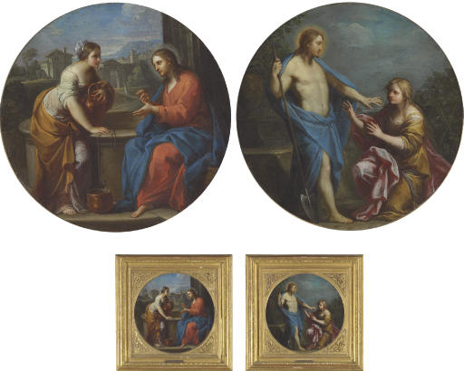 Christ and the woman of Samaria; and Noli me Tangere