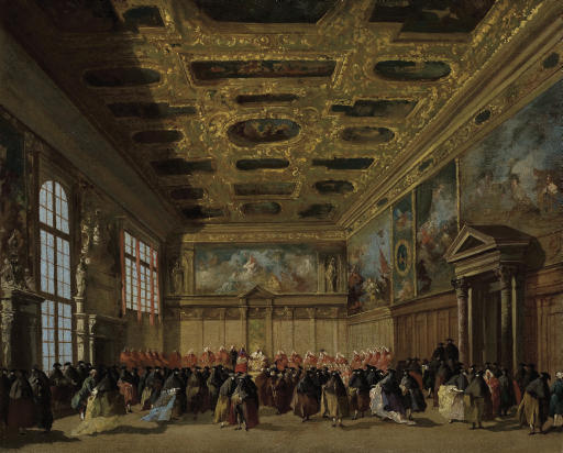 Reception by the Doge of the Ambassadors in the Sala del Collegio