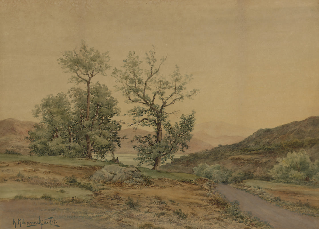 A lakeside path