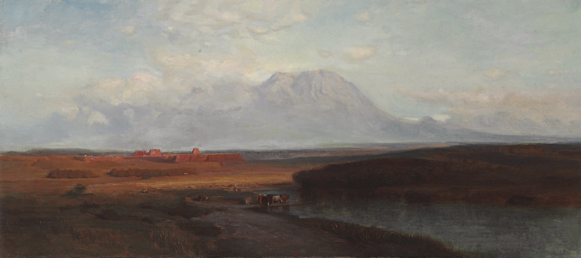 """Study for """"Spanish Peaks, Southern Colorado"""""""