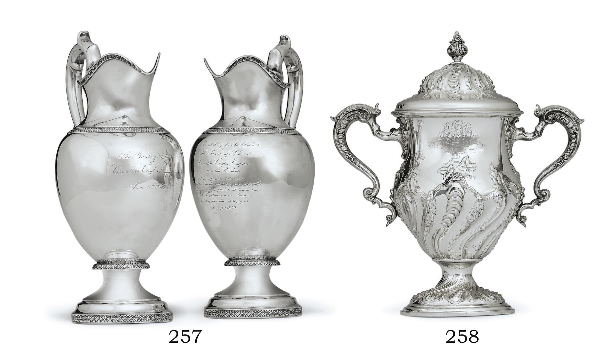 AN AMERICAN SILVER CUP AND COVER IN THE GEORGE II STYLE