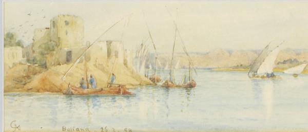 Shipping in a bay in Baliana, Egypt
