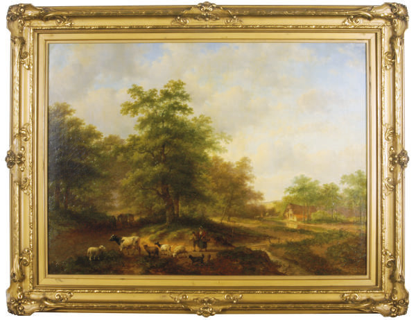 Peasants on a wooded country road
